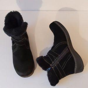 Baretraps black leathersuede short boots-sz 9 1/2M